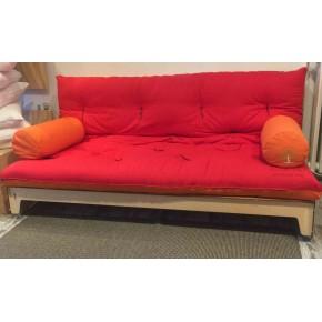 Divano letto futon Greenwood in legno di betulla con braccioli