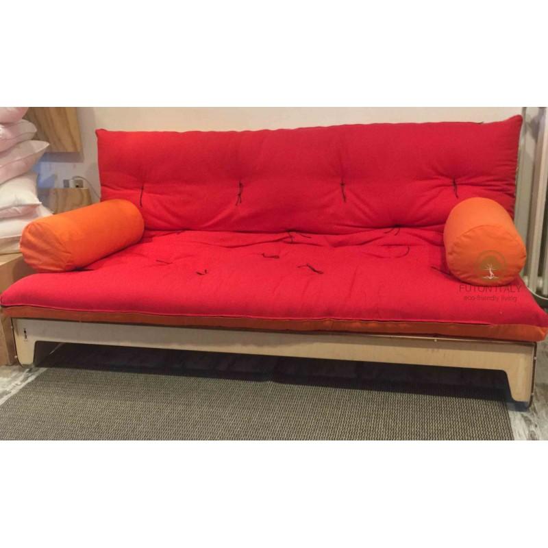 Divano letto futon trasformabile in legno di betulla made in Italy ...
