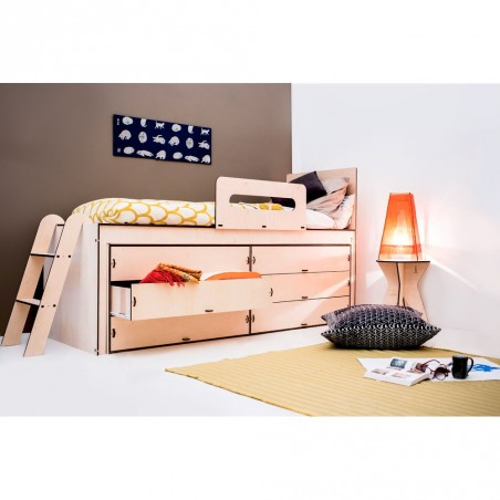 Lumbee, Letto ecologico multifunzione, in kit di montaggio, legno di betulla.