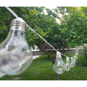 Filo 10 lampadine elettriche da esterno
